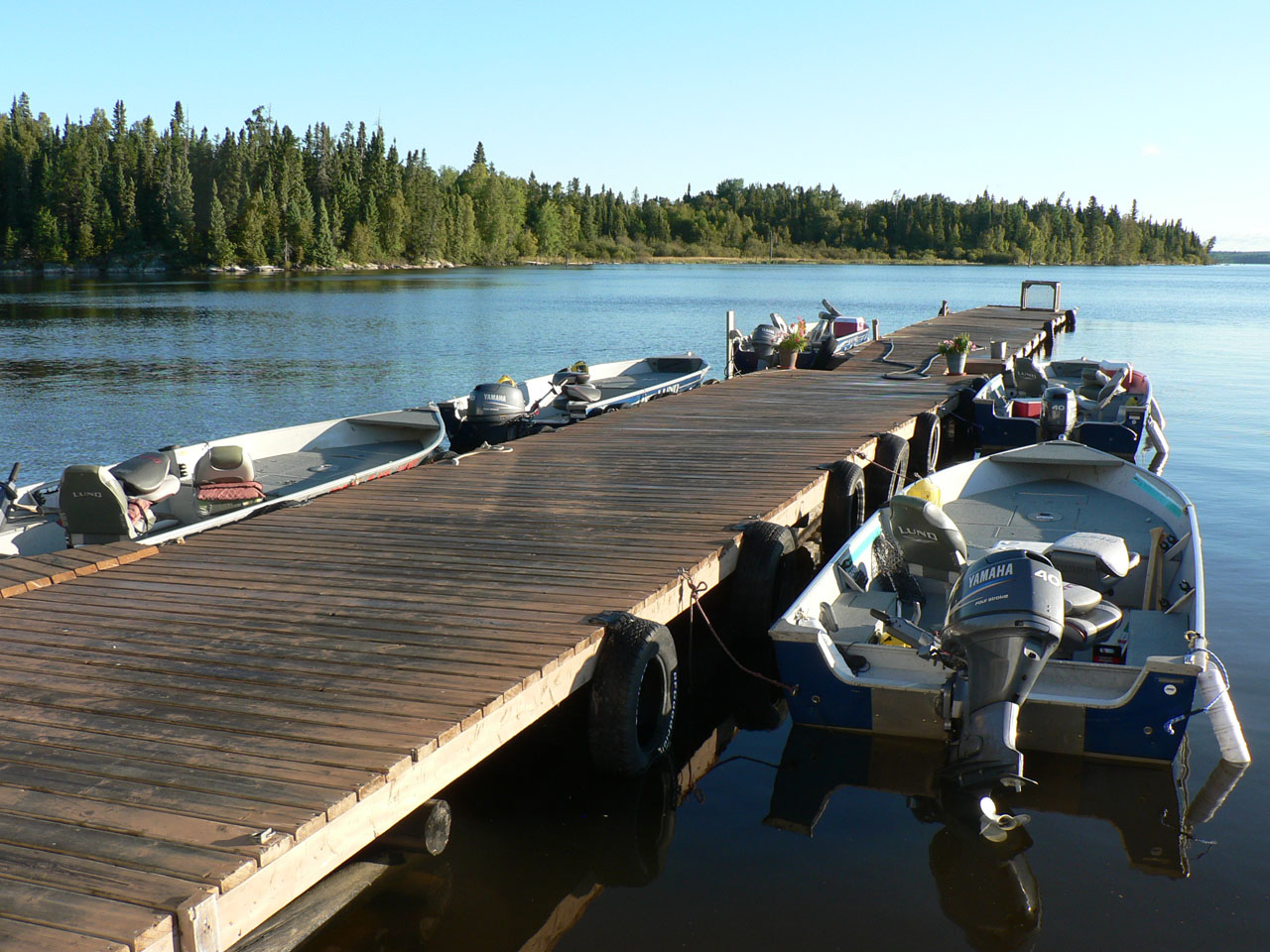 View at the Docks of the Lake