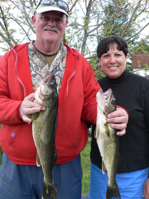 Happy Couple with Walleye in Hand