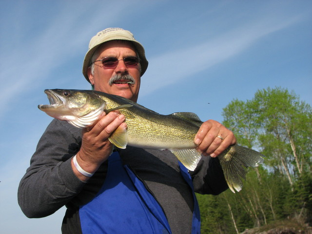 Posing with a Sweet Walleye