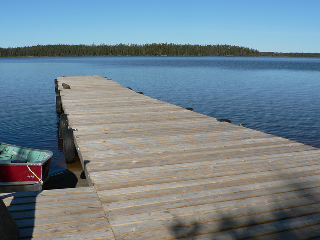 Docks at Nungesser Lake