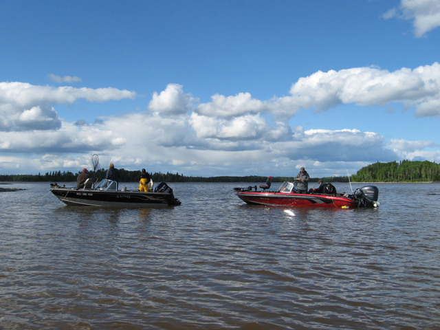 Boats on Lac Seul