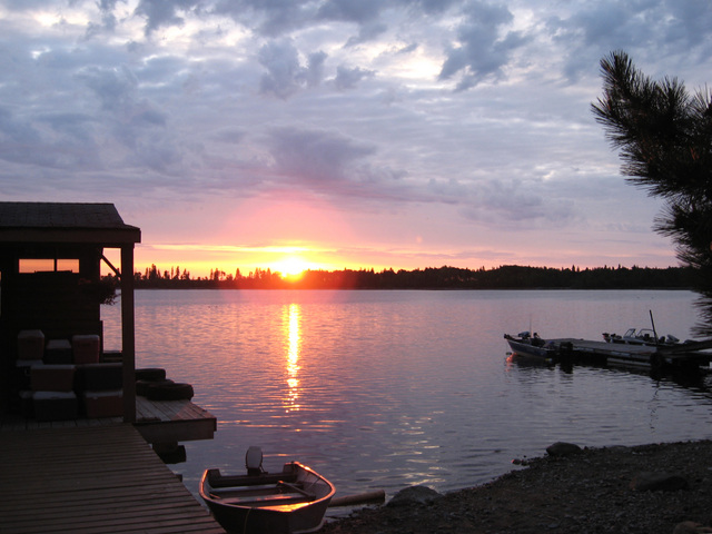 Sunrise on Lac Seul